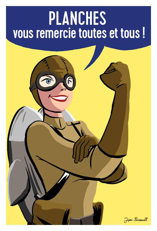 Affiche de Jipi Perreault pour la campagne de financement de PLANCHES